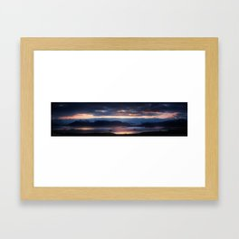 Placid Solitude - Iceland | The Black Beauty Framed Art Print