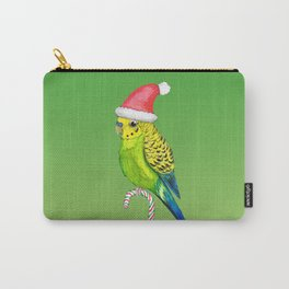 Budgie Christmas style Carry-All Pouch