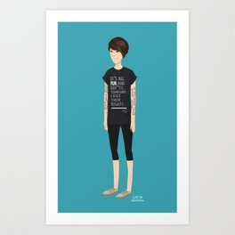 Tegan and Sara: Tegan (Revel & Riot) Art Print