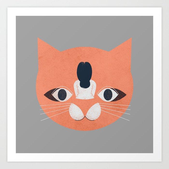 Cat Face Art Print