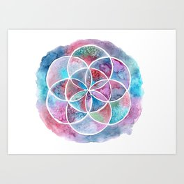 Watercolor Mandala II Art Print