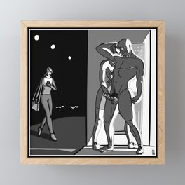 [NSFW Inktober 2020] 26. Hide Framed Mini Art Print
