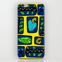 Blue & Yellow Cashew Apple iPhone Skin