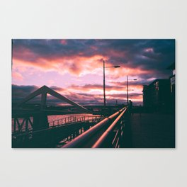 Clyde Side Nights. Canvas Print
