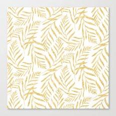 Leaves Golden #society6 #buyart Canvas Print