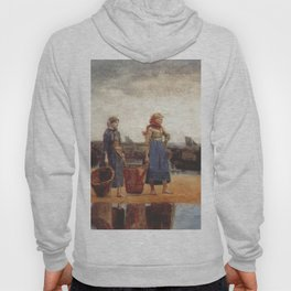 Two Girls On The Beach Tynemouth 1891 By WinslowHomer | Reproduction Hoody