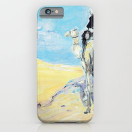 Max Slevogt - Sandstorm in the Libyan Desert - Digital Remastered Edition iPhone Case