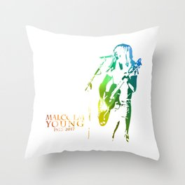 malcolm young Throw Pillow