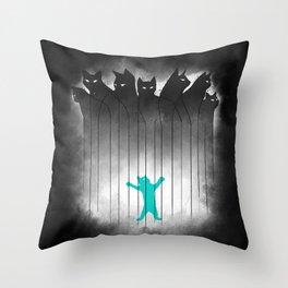 Clowder (Black) Throw Pillow