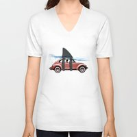 vw V-neck T-shirts featuring VW soup by Vin Zzep