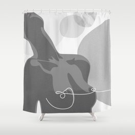 Covered With Line Shower Curtain