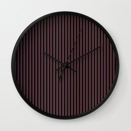 Thin Golden Pinstripe on Royal Purple and Black Wall Clock
