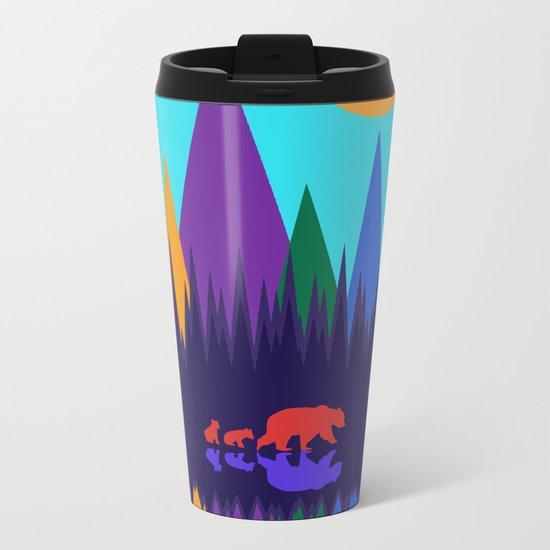 Bear & Cubs #3 Metal Travel Mug