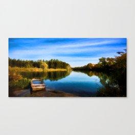 Secret Fishing Lake Canvas Print