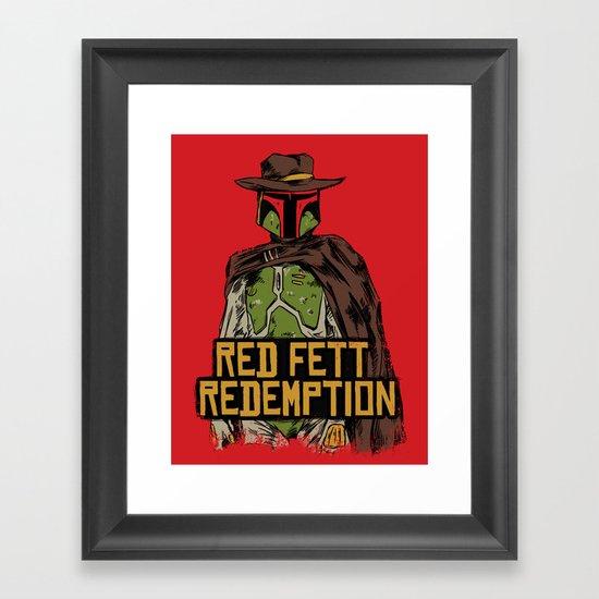 Red Fett Redemption Framed Art Print