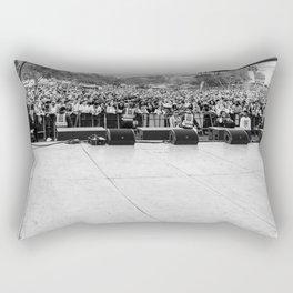 Crowd Shot from Backstage Rectangular Pillow