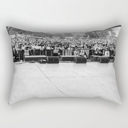 Crowd Shot from Backstage Rectangular Pillow