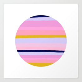 Ojai, california sunset Art Print