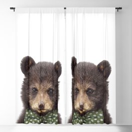 Baby Bear With Bow Tie, Baby Animals Art Print By Synplus Blackout Curtain