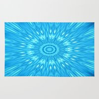 turquoise Area & Throw Rugs featuring turquoisE Mandala Expolosion by 2sweet4words Designs