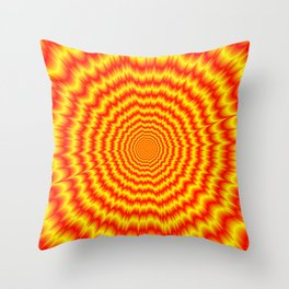 Big Bang in Red and Yellow Throw Pillow