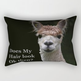 Funny hairstyle alpaca Rectangular Pillow