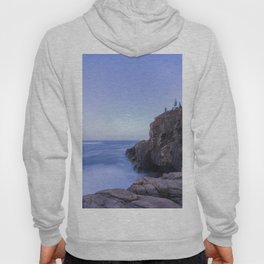 Blue hour at the cliffs Hoody