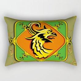 Golden Griffin Rectangular Pillow