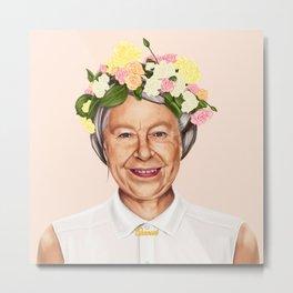Hipstory - Queen Elizabeth Metal Print