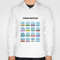 korean Hoodies featuring Korean Emoticons and Abbreviations by DomHyo