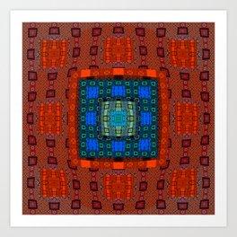 Deep Resonant Geometric Feng Shui Mandala Art Print