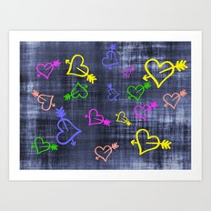 Hearts with Arrows Art Print