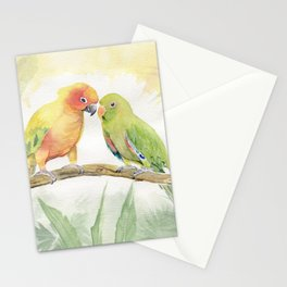 Parakeet Love Stationery Cards