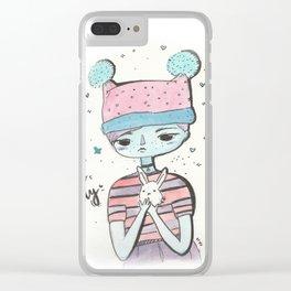 Hello lovely bunnygirl Clear iPhone Case