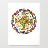 fibonacci Canvas Prints featuring FIBONACCI  by Caitie Magraw
