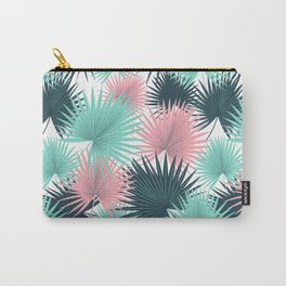 Pastel Palm Leaves Carry-All Pouch