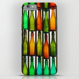 vintage coloured glass bottles iPhone Case