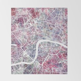 London map Throw Blanket
