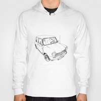 mini cooper Hoodies featuring Mini Cooper by Neko Naku
