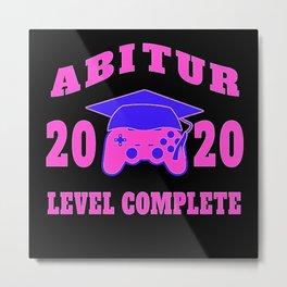 Abitur 2020 Abi graduation examination geschenk Metal Print