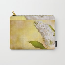 White Syringa vulgaris or lilac Carry-All Pouch