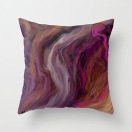 First Free Flow Throw Pillow