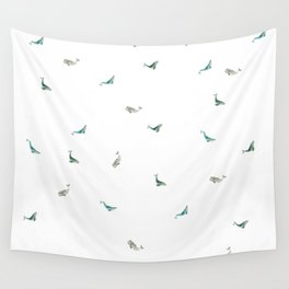 Whale Friends Wall Tapestry