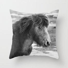 Equus feras caballus Throw Pillow