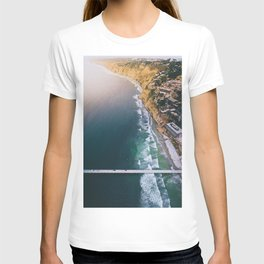 Aerial view of Scripps Pier in San Diego T-shirt