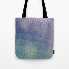 Halftone Borealis Tote Bag