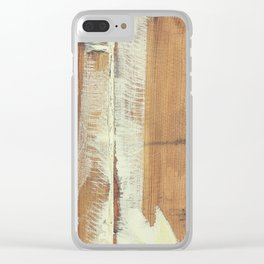 Wood planks shipboard Clear iPhone Case