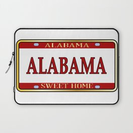 Alabama State Name License Plate Laptop Sleeve