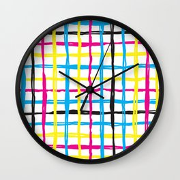 Bight brush plaid Wall Clock
