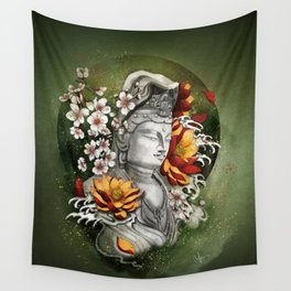As a lotus Wall Tapestry
